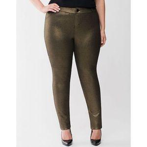 Lane Bryant Skinny pants with black/gold shimmer